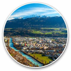 2-x-Vinyl-Stickers-7-5cm-Beautiful-Innsbruck-Austria-Cool-Gift-3386