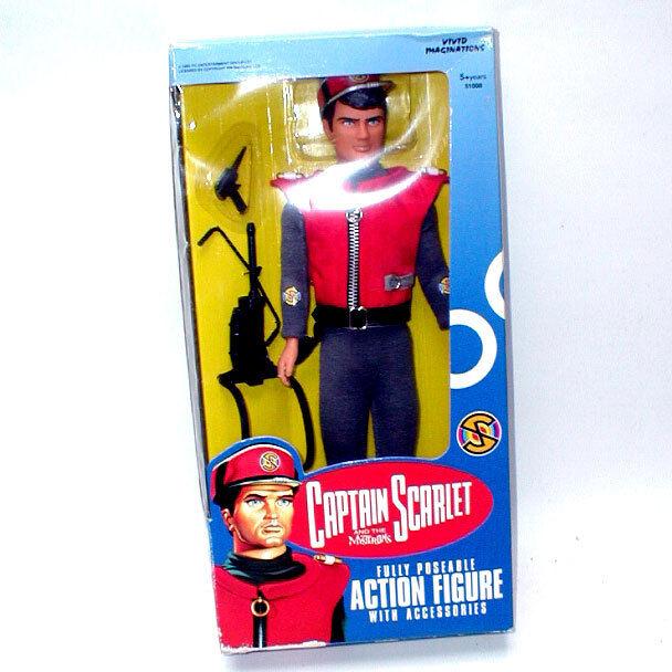 Vivid Imaginations Capt Scarlet Figure 1990s 12 Nqlpbh3094 Tv