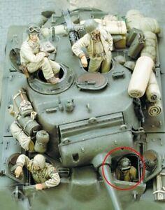 1-35-Resin-WWII-US-Tank-Crew-4-Figures-Unassembled-Unpainted-BL878