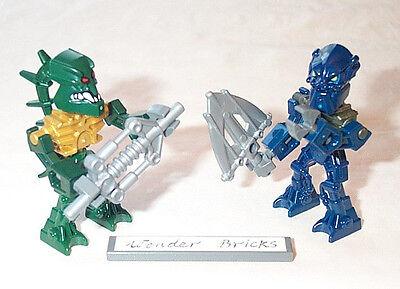 Lego Minifigure Bionicle Piraka Zaktan /& Toa Inika Hahli with Weapon
