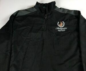 Team-Tupelo-Jacket-Mens-L-XL-Ambassador-Of-Excellence-Horse-1-4-Zip-Windbreaker