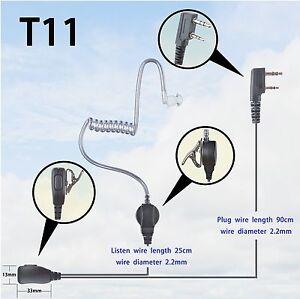 1 wire surveillance earpiece for kenwood tk2402 tk2302 tk3402 rh ebay com