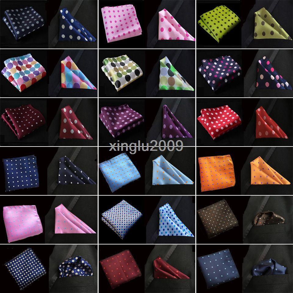 F-D 31 Color Polka Dots Mens Silk Handkerchief Pocket Square Hanky Wedding Party