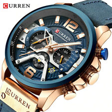 Reloj De Pulsera CURREN HOMBRES Reloj De Cuarzo Cronógrafo Calendario Correa De Marca Macho relojes