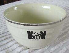 """Hall China Silhouette 7.5"""" Medallion Mixing Bowl with Silver Trim"""