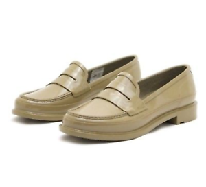 1d333a0682d Image is loading Hunter-Womens-Original-Waterproof-Penny-Loafers-Sand-Slip-