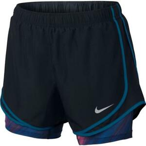 dddb714e787 Details about NWT Nike Dri-Fit Dry Tempo 2 in 1 Women s Running Shorts Size  S 848436