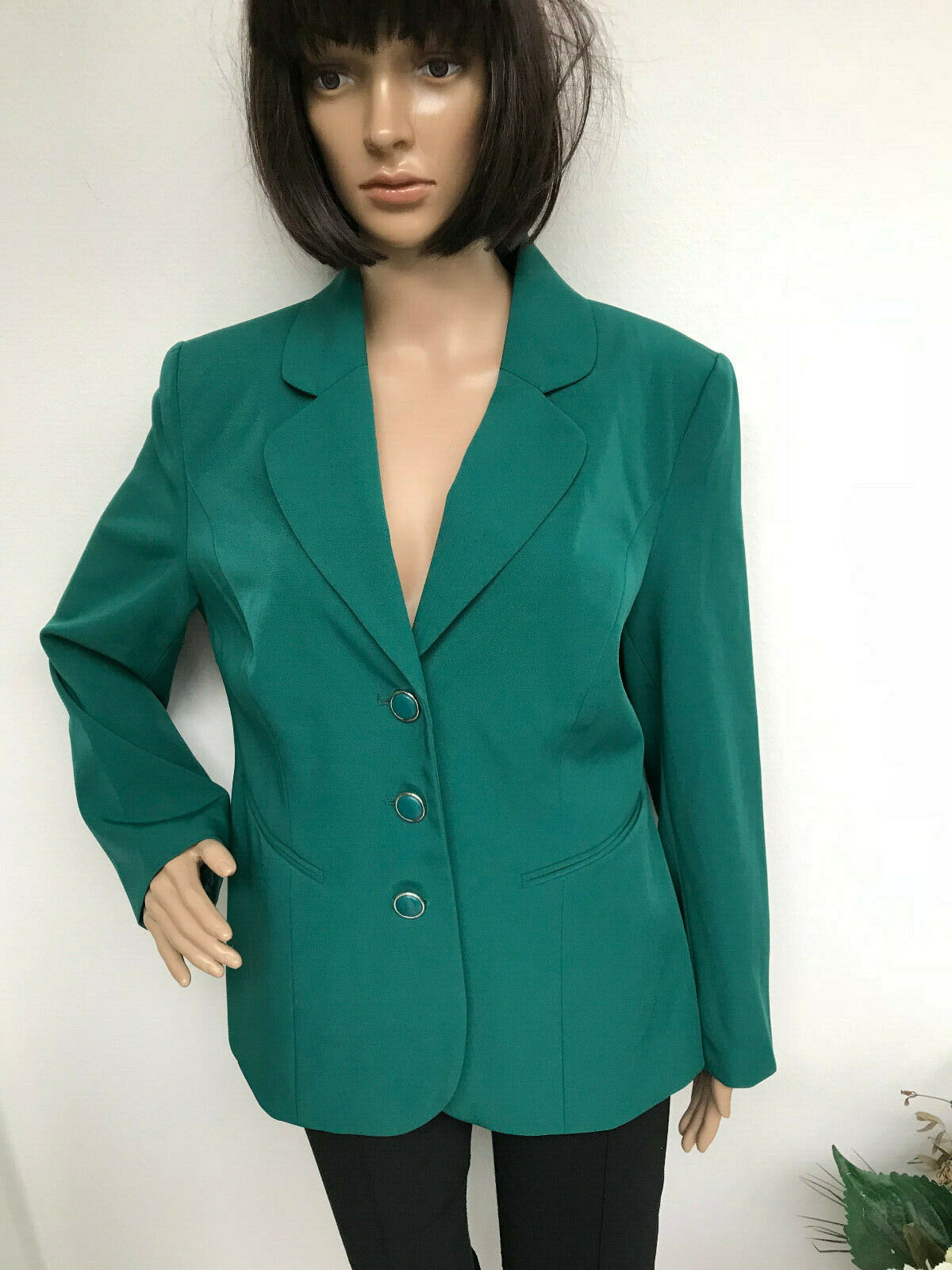 Blazer Helena VERA green with scarf size 21 Short 42 NEW