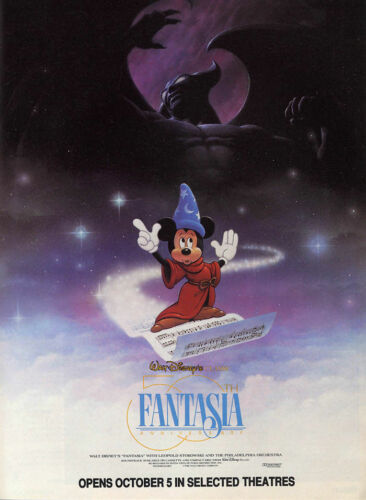 FANTASIA Movie RARE Art Poster Fabric Decor 282
