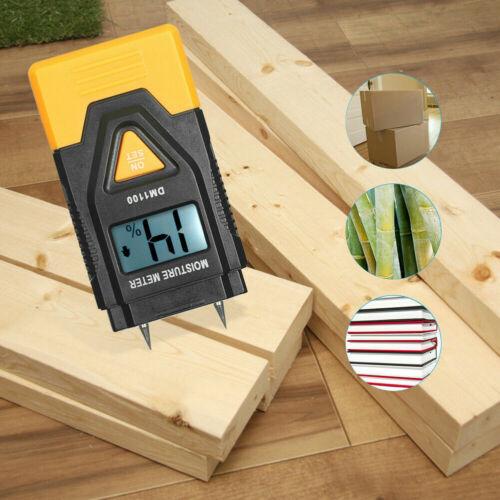 3 in 1 LCD Moisture Meter Tester Wood Cardboard Plaster Concrete Logs Detector
