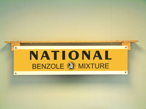 National Benzole Mixture Workshop Garage Vintage style Petrol Advertising BANNER