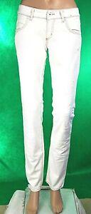 Jeans Donna Pantaloni MET Italy C662 Bianco Ghiaccio Gamba Dritta Tg 27