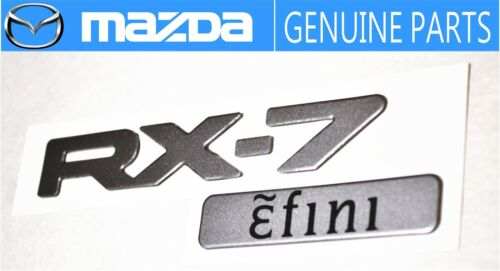 MAZDA RX-7 FD3S  Efini Genuine Rear Badge Emblem RARE ITEM  JDM