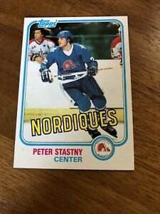 1981 Topps Hockey #39 - Peter Stastny Rookie Card - Quebec Nordiques - RC