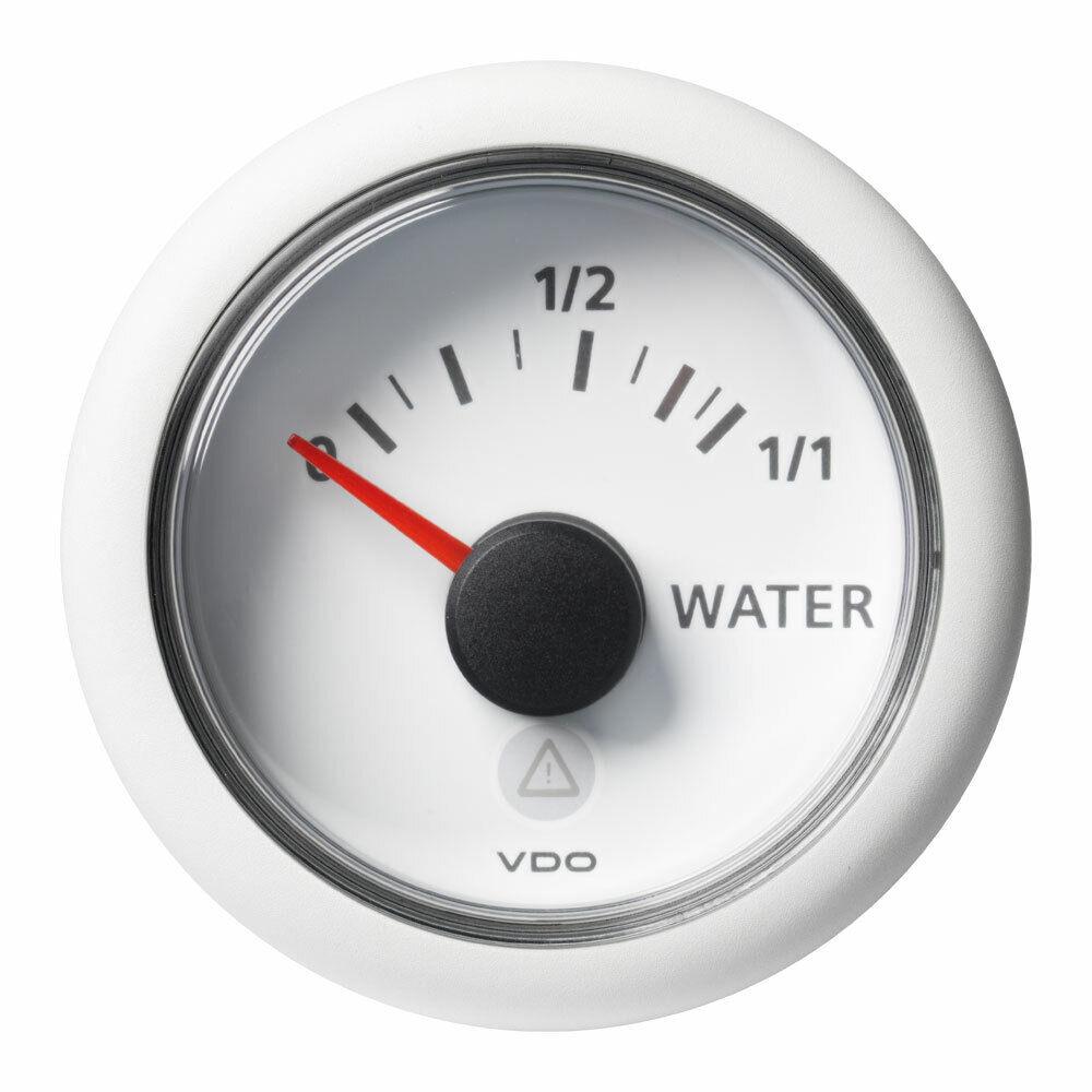 VDO-ViewLine Füllstandsanzeiger Frischwasser (kapazitiv) Ø52mm 0-1 1 8-32V 4-20m