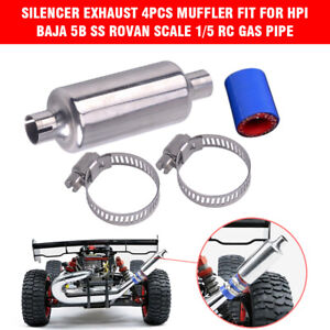 4pcs-Silencer-Exhaust-Muffler-Fit-for-HPI-BAJA-5B-SS-ROVAN-Scale-1-5-RC-Gas-Pipe