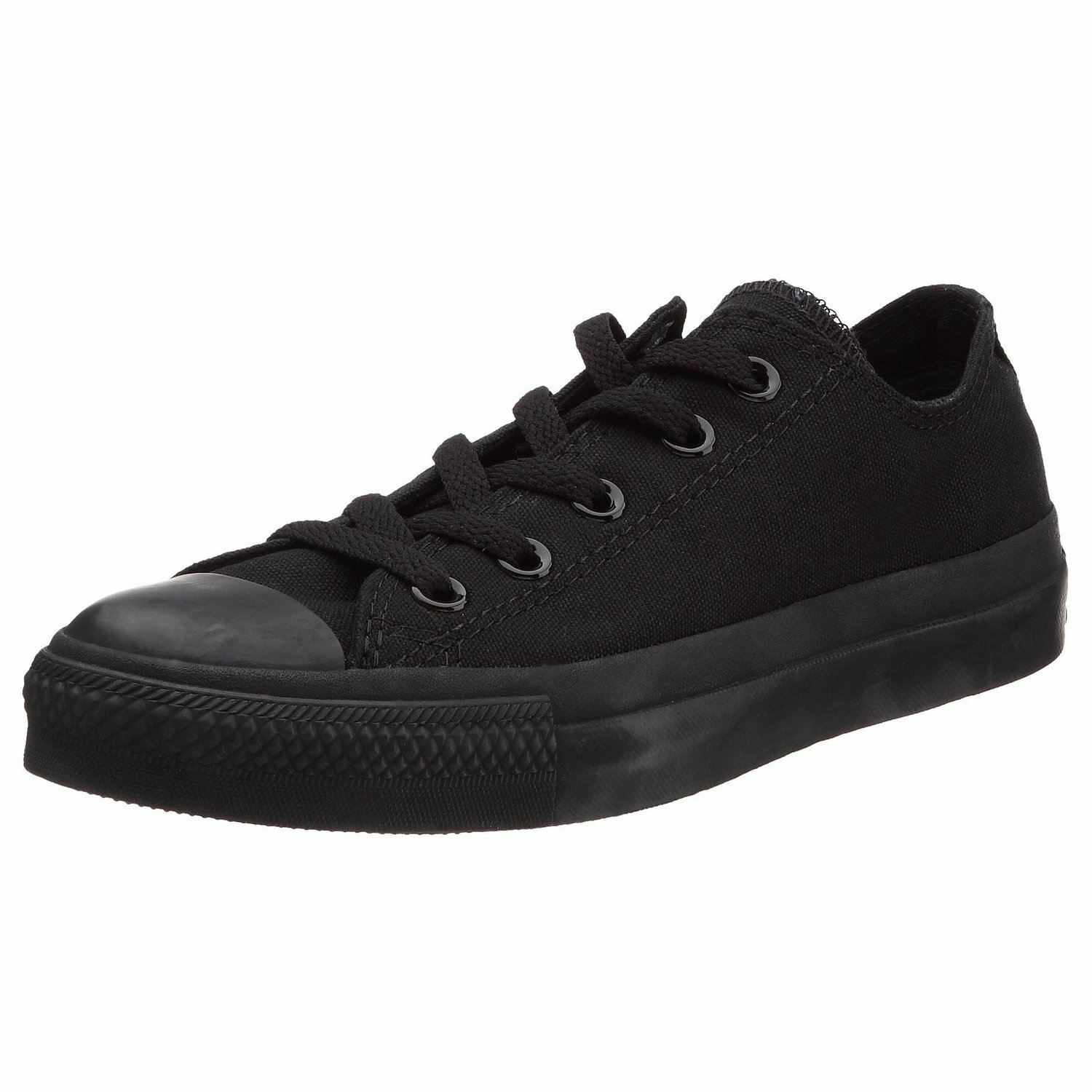 Converse Chuck Taylor All Star Black Mono Ox Lo Unisex Trainers Shoes