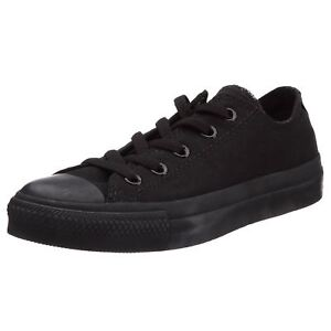 3d27b0200988 Converse Chuck Taylor All Star Black Mono Ox Lo Unisex Trainers ...