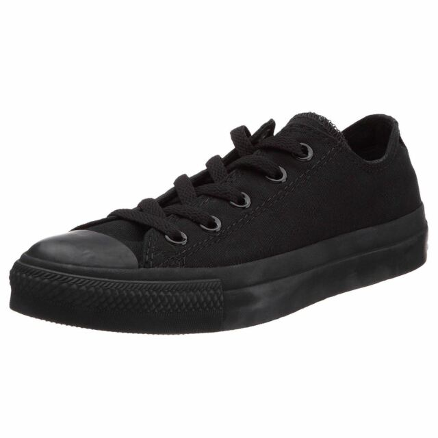 6d8baee76823 Converse Chuck Taylor All Star Black Mono Ox Lo Unisex Trainers Shoes