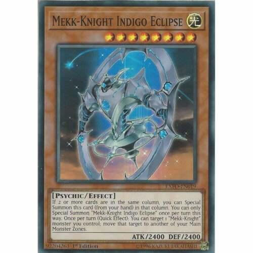 EXFO-EN019 Mekk-Knight Indigo Eclipse1st EditionSuper Rare Card YuGiOh TCG