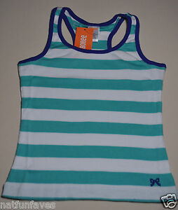 NWT Gymboree girls green /& pink striped ruffle summer tank top size 6