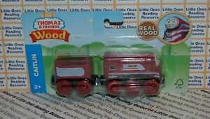 Thomas-Friends-Wood-Wooden-CAITLIN-Train-FULLY-PAINTED-Fisher-Price-GGG84