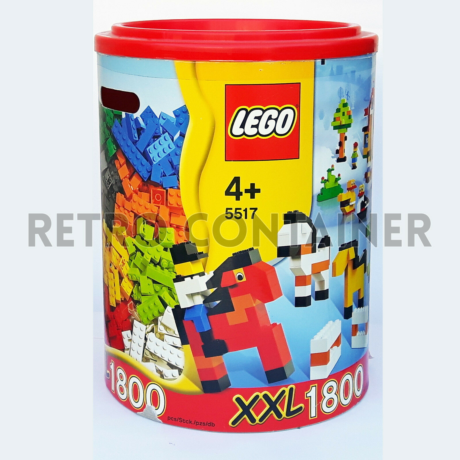 LEGO Set 100% Completo 5517 - XXL 1800 Pieces Canister 2006 - Ultra Rare Limited