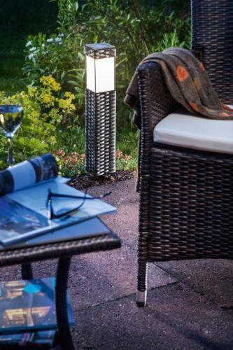 LED Solarleuchte Solar Standleuchte Gartenlampe Solarlampe Rattan Gartenleuchte