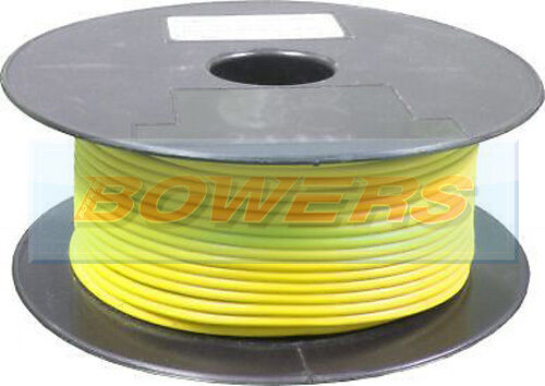 50M METRE ROLL//REEL YELLOW SINGLE CORE CABLE//WIRE 8.75AMP 14 STRAND 1mm 1.00mm²