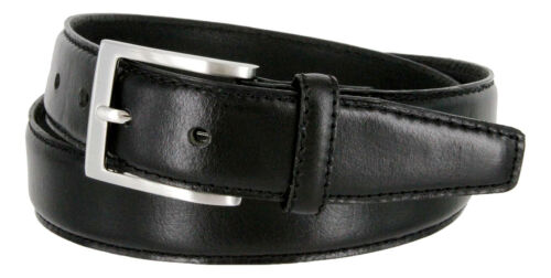 "Men/'s Belt Classic Oil-tanned Genuine Leather Office Dress Business Belt 1-3//8/"""