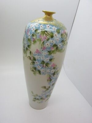 "Rare Antique Elite Limoges France Hand Painted Gold Encrusted Moriage 7.5"" Vase Decorative Collectibles Other Limoges Collectibles"