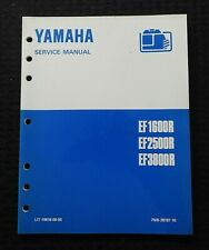 Genuine Yamaha Ef1600r Ef2500r Ef3800r Portable Generator Service Manual Nice