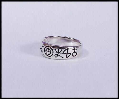 Un anillo de plata 925 anillo plata caracteres y símbolos estrecho masivamente niños nuevo
