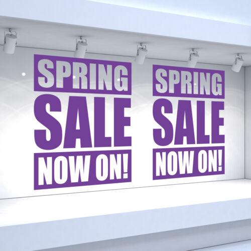 Shop Window Vinyl Stickers Retail Decals 2 x SPRING SALE NOW ON