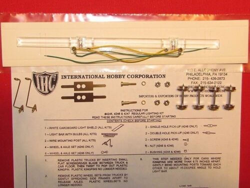 COMPLETE KIT # 4245 IHC CORRUGATED AND SMOOTH SIDE PASSENGER CAR LIGHTING KIT