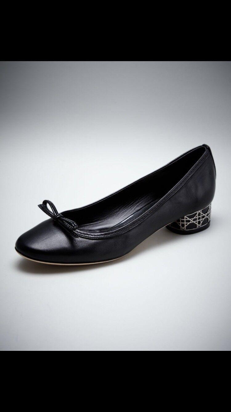 Dior Dior Dior 36, Uk 3 Black Cannage shoes, Low Heels , Ballerinas, Classy 2af122