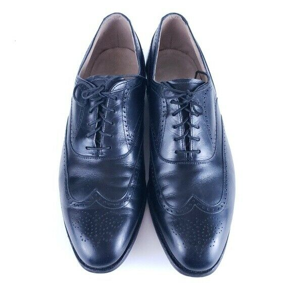 Johnston & Murphy Aristocraft Men Dress Shoes Black Size 9 D - made in USA