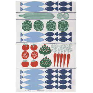 Merveilleux Image Is Loading Almedahls Tea Towel Torgkasse Market Designer Kitchen Towel