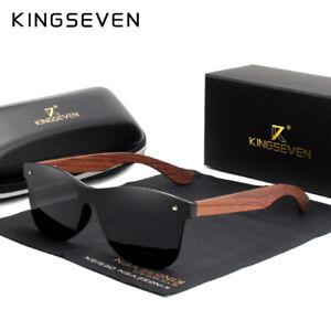 8540e06ae912a Image is loading KINGSEVEN-Polarized-Wooden-Sunglasses-Men-Fashion-UV400-Sun -