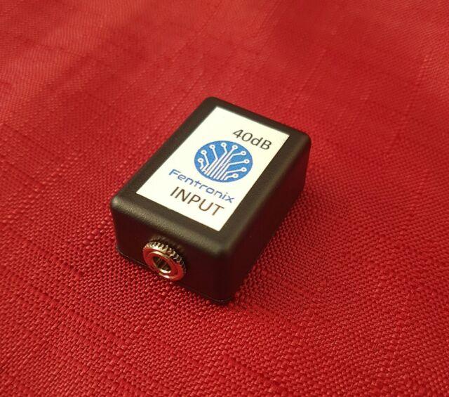 SAA40 Stereo Audio Attenuator 40dB convert line to mic level, filmmakers
