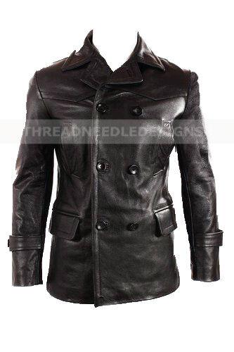 German Submariner WW2 Vintage Men/'s Cowhide Black Leather Jacket//Coat BWNT