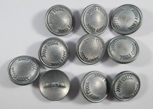 Botón de metal botones 10 piezas de plata mate 25 mm #1155#