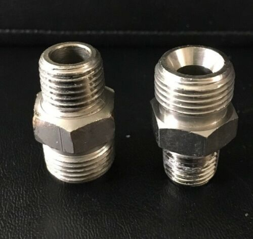 NEW Set of 3 DOUBLE MALE NIPPLE 1//4 NPT X 3//8 NPS,250 PSI BINKS 83-1892