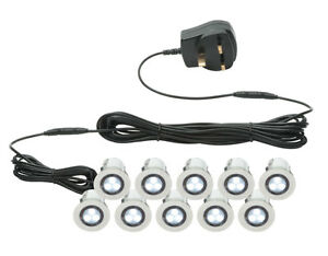 Saxby-Kios-IP44-external-10x-LED-garden-decking-lights-kitchen-plinth-lights