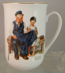 Vintage-1982-Norman-Rockwell-Museum-039-The-Lighthouse-Keeper-039-s-Daughter-039-Cup-Mug