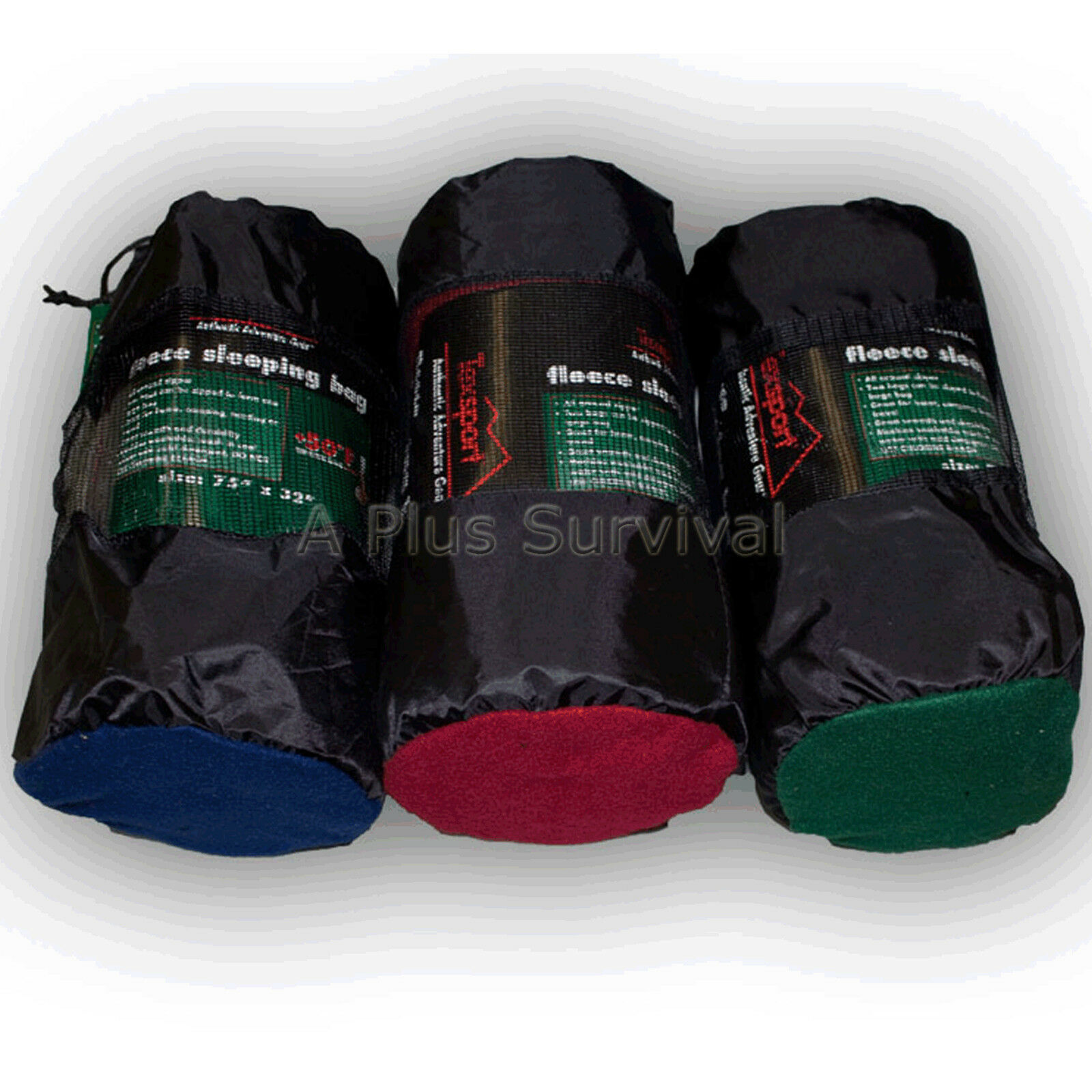 Lot of 4 - Fleece Sleeping Bag - 50 Degree - Emergency Survival Kit - 32  x 75