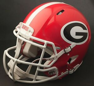 georgia bulldog helmets georgia bulldogs riddell revolution speed football helmet 5884