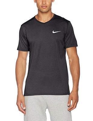 Nike Men's Short Sleeve Breathe Running Shirt Choice Materials 833136-010