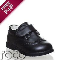 Baby Boys Matt Black Shoes, Boys Formal Shoes, Boys Fastening, Flexible Sole