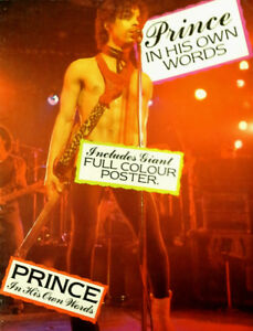 PRINCE-IN-HIS-OWN-WORDS-PAPERBACK-COLOR-POSTER-CHERRY-LANE-1984